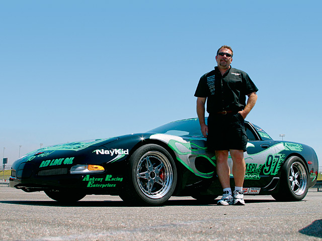 Kumho is active in SCCA racing and sponsors the NayKid Racing ZO6s of Scotty White (shown) and Cindi Lux. Both now run the Ecsta V710 competition tire (a slick with grooves for DOT approval) in the T1 class.