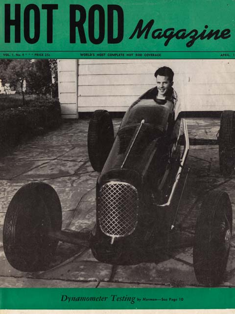 Just prior to becoming the first hot rod to run 150 mph at El Mirage, Stu Hilborn's Class B streamliner appeared on the cover of the fourth issue of HOT ROD Magazine in April 1948.