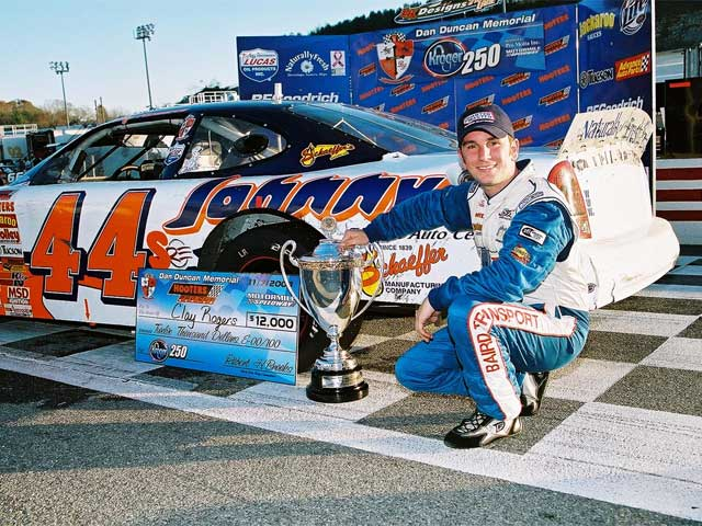 Rogers win in the fourth championship event, held at Motor Mile (VA)Speedway, put him back on track for the championship.