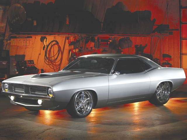 There's no denying that silver makes a car look high-tech, smooth, and completely classy, as in the Rad Rides-built Sick Fish 'Cuda. But in a sea of silver hot rods, something has to change eventually.