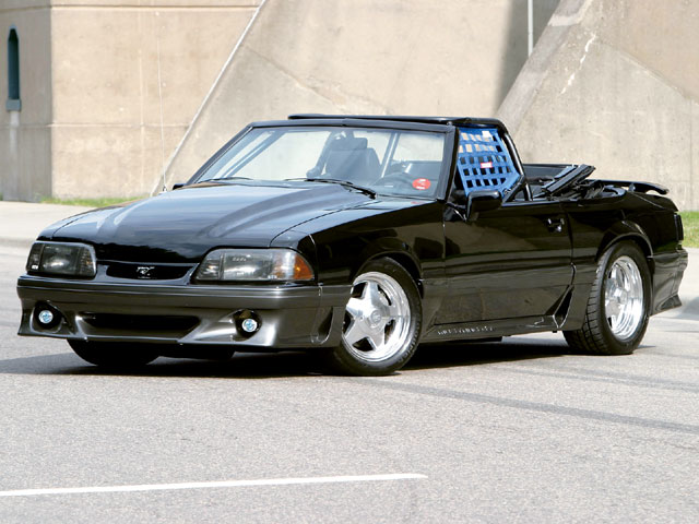 Would anyone expect a ragtop Mustang GT pumping bass to be a serious threat? If it's John Garner's '90, they'd better. The heavily blown and intercooled 347 still runs factory electronics to control the EFI, though it's tuned with aftermarket software, and the package is good for nearly 1,000 hp at the crank. Yet the Mustang is still absolutely streetable.