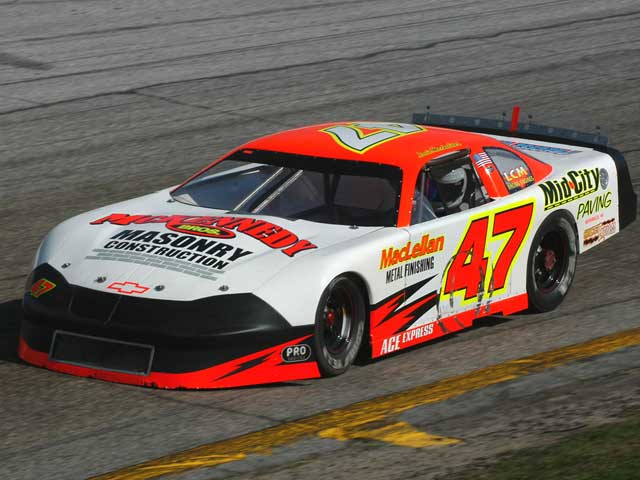 Louie Mechalides won two Super Late Model races at New Smyrna Speedwayand gained the overall point title.