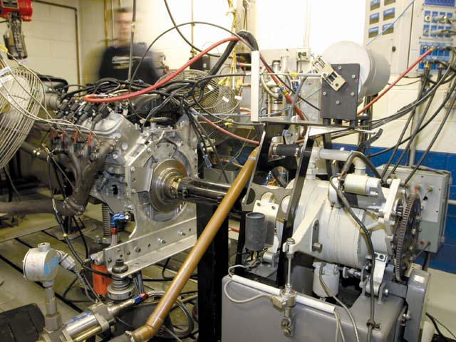 The inside of a Katech dynamometer cell is awe-inspiring to a gearhead not used to state-of-the-art OE-level instrumentation. Air temperature, pressure, and humidity are controlled at all times to maintain repeatability regardless of outside conditions, and more than two dozen operating parameters are measured and recorded during each pull.