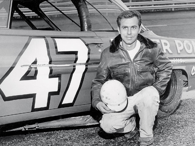 Bobby poses in front of the Jack Smith No. 47 '61 Catalina on October 22, 1961, for the '61 Southeastern 500. He started in position number one and led for 49 laps.