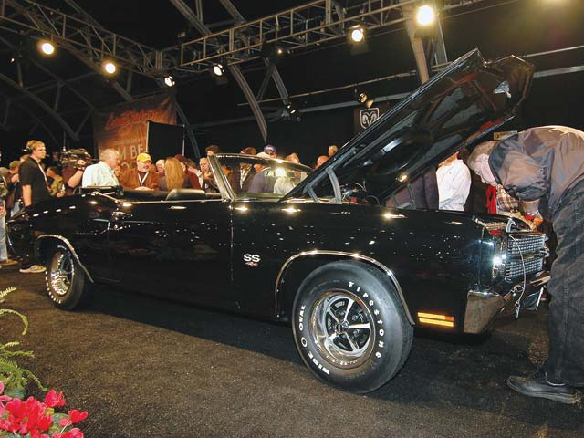 This '70 Chevelle SS 454 convertible recently fetched $324,000 at the Barrett-Jackson auction.