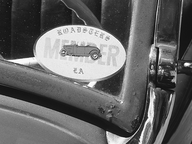 ...there were no aftermarket suppliers in 1951 and Fred couldn't find a good enough example to plate. Living in Los Angeles, Fred was an active L.A. Roadsters member from 1962-64.