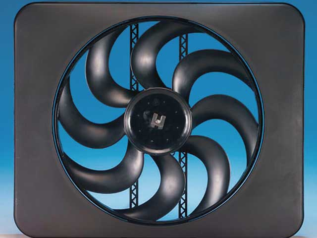 Whether you are using a mechanical fan or electric, a shroud willgreatly increase its efficiency in terms of how much air it actuallypulls through the radiator core. This Flex-a-lite electric fan comeswith a built-in shroud--just make sure it covers at least 70 percent ofthe radiator's surface area.