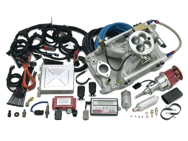 Edelbrock's Pro-Flo handheld calibration module eliminates the need for a laptop computer. Edelbrock also offers Victor and Super Victor intakes that can be combined with its universal EFI kits for serious horsepower potential.