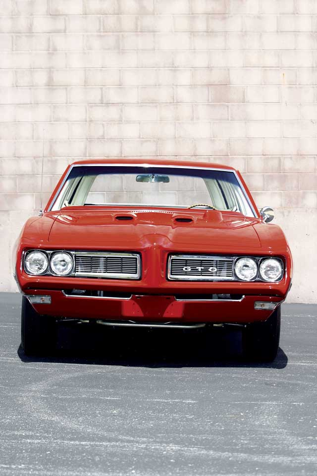 Procuring the Endura front bumper assembly, the grilles, and the hood were required for the GTO look up front.