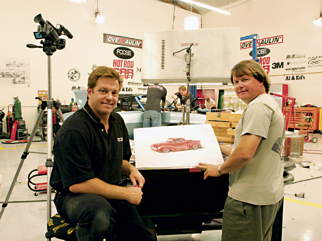 Here's Chip Foose (left) on the set of his Overhaulin' TV show with KIT CAR editor Eric Geisert. It's always great working with Chip, as he doesn't have an equal when it comes to automotive design...