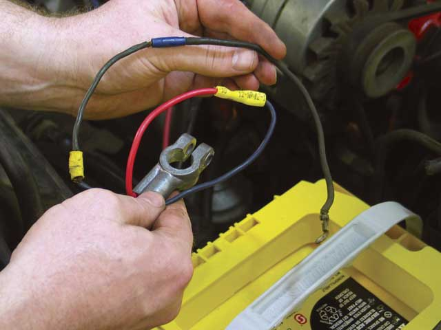 Using a larger 8-gauge charge wire between the alternator and thebattery improved alternator performance dramatically. It didn't hurtthat we also eliminated three splices in the wire between the batteryand the junction block.