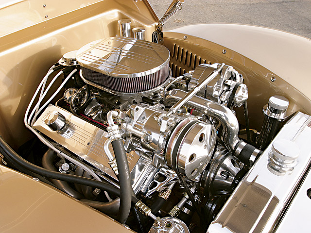 Another option in the arsenal of GM crate engines is the ZZ3 350ci mill. This ready-to-go long-block is topped with a Holley Pro-Jection EFI system on a stock intake manifold.