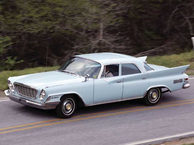 Call's secret weapon and all-time-favorite moonshine-hauling car wasthis '61 Chrysler New Yorker, a luxury car of the era. In addition to anumber of engine modifications, it had heavy-duty springs all around andtwo sets of shocks in the front.