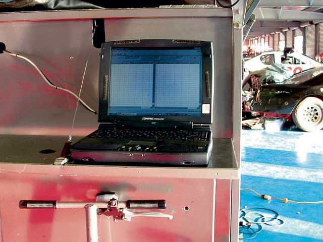 The computer station (sometimes more than one) is where the data isanalyzed and decisions are made to improve the handling of the car.