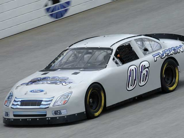 The Ford Fusion was tested at Atlanta Motor Speedway before going to thewind tunnel for final NASCAR approval.