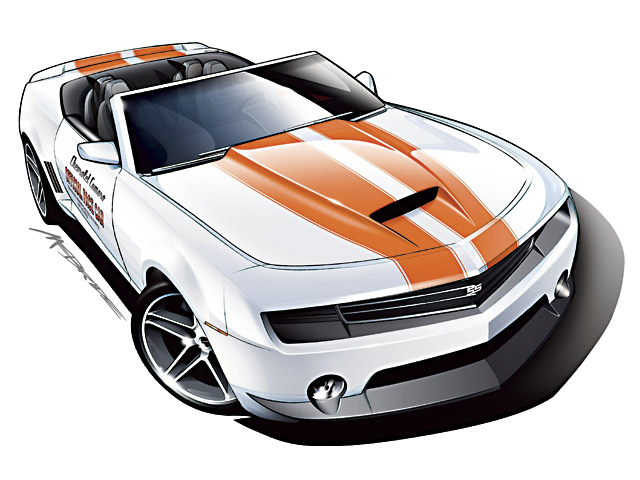 We asked artist John McBride to sketch for us what a 2009 Camaro Indy Pace Car would look like. We think it's more than just coincidence that the new Camaro will debut on the 40th anniversary of the most famous Indy Pace Car ever (the '69). Look for at least a 400hp LS2 in this high-end convertible.