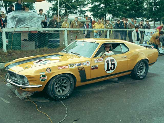 The legendary Parnelli Jones won five times in 1970 wheeling the Bud Moore-prepped Boss 302 on his way to contributing to Ford's manufacturer title in 1970.