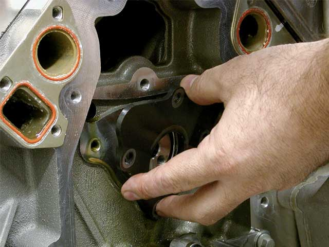 Lube the new cam with a viscous lube like Engine Assembly lube from Federal-Mogul, but don't use that black moly lube. Also remember to install the cam thrust plate to prevent the cam from moving. We didn't degree the cam, since we figured that most in-car swaps will not include this.
