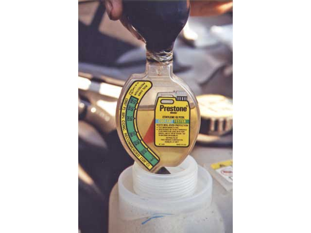 If using conventional antifreeze, it's important that the mixture isn't stronger than 50/50. As the level of antifreeze is increased, the heat transfer ability is reduced and the temperature gauge reads lower, but the cylinder head is hotter.