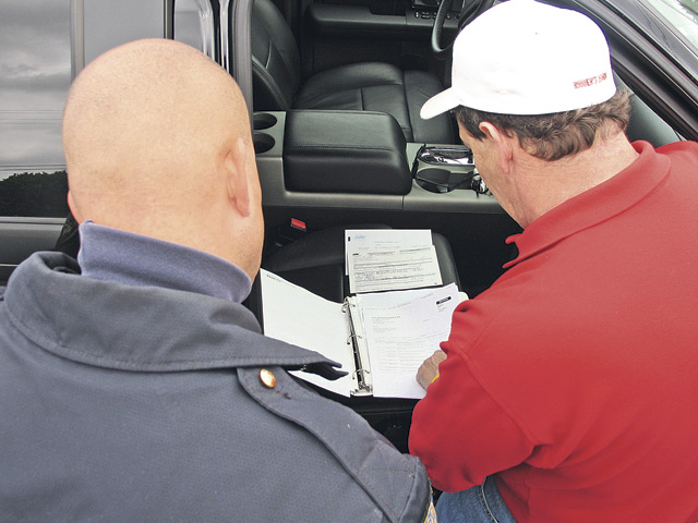 There is always paperwork. Before beginning the vehicle inspection there was a mild amount of paperwork to verify the components existed and that everything was properly filled out.