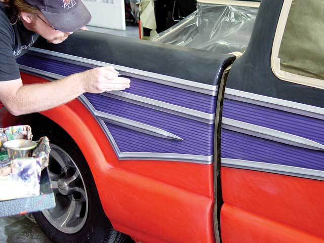 When choosing a paint shop or special-effects artist, be sure to ask to see a portfolio of the shop's work, says airbrush expert Craig Fraser. (The photo, for example, comes from Fraser's Air Syndicate portfolio.) Don't be afraid to ask for references and call other customers. Considering what a good paint job costs, you'll appreciate the peace of mind that comes from talking with others who have prior experience with the shop.