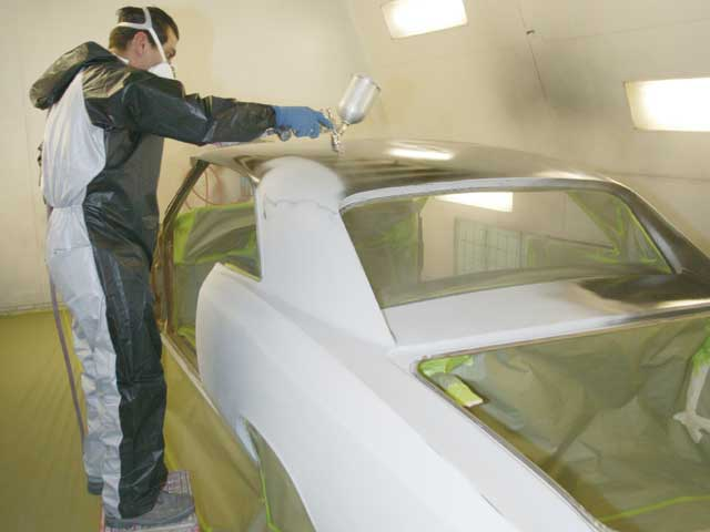 The physical aspect of spraying the paint is actually one of the easiest parts of doing your own paint job. Some people find it rewarding to pay a pro to get the car perfectly straight, then lay on the paint themselves.