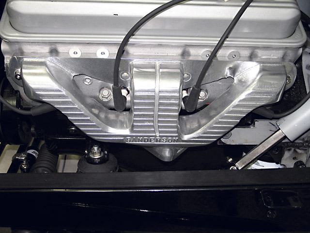 The Sanderson QP1000 cast-iron header solved all of our clearance problems as well. However, we preferred the looks of a tube header on a street rod, so we opted for the CC5.  The QP1000 is a popular choice for Tri-Five Chevrolets.