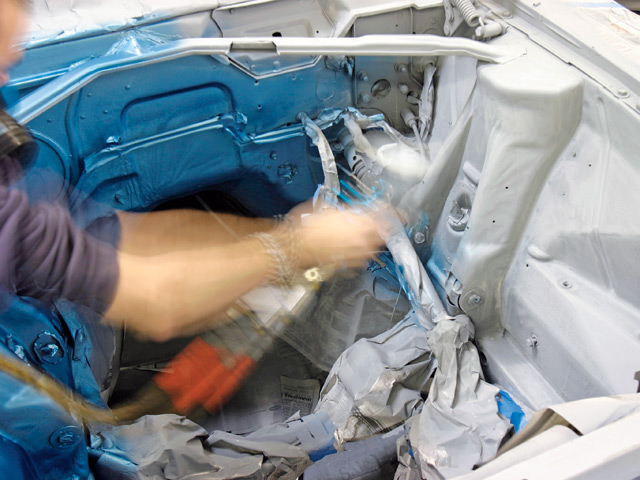 engine compartment painting paint  engine bay