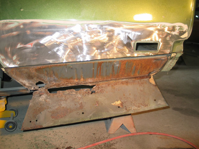 Before even considering colors or a paint booth, all the rust must be found and either removed or chemically neutralized.