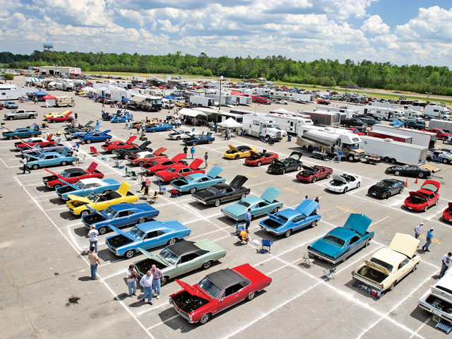 A total of 92 show cars were registered for competition at VMP. Here, the A-body area shows a wide variety of models and colors.