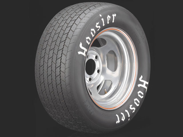 The IMCA Modifieds run on a spec Hoosier tire that is both economical and functional. Using this narrow 8-inch tire helps promote driver finesse and chassis setup as primary requirements for success. Courtesy Hoosier Tires