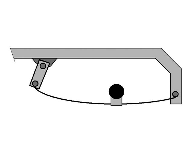 The leaf-spring suspension system usually has fixed mounts in the front and therefore no adjustment for amount of rear steer. The rear end stays mostly square in the car throughout the lap. The feedback we hear from the racers is that the leaf-spring rear suspension is good on tacky or wet tracks and not so good on dry-slick tracks.