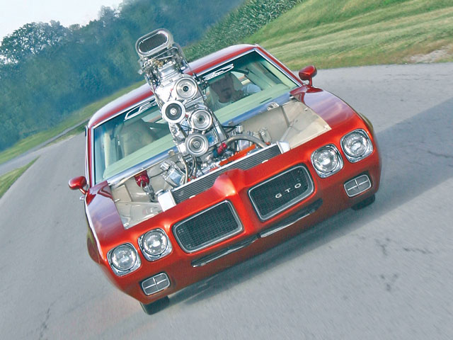 Despite its radical configuration, the GTO is quite roadworthy according to Bill. After all, he built it to cruise and get attention. Wouldn't this be an interesting sight in your rearview mirror?