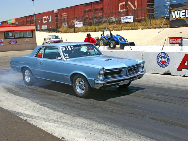 Ron Hildreth won the Warrior class at the dragstrip in his '65 GTO.