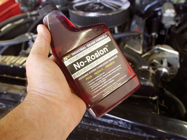 No-Rosion contains an additive that not only extends the life of antifreeze but also greatly reduces the risk of corrosion of soft metals, like aluminum, due to electrolysis.