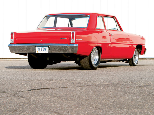 The Chevy II was so original, Doug was able to save the original grille with just a little polishing.