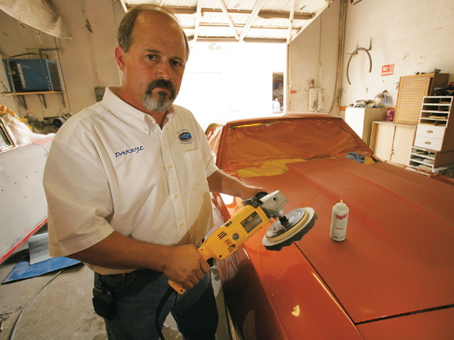Automotive paint buffers work at a relatively low speed, typically around 2,000 rpm. Don't make the mistake of using a similar high-speed sander or angle grinder. Polishing bonnets, like compounds, come in a variety of grades, from coarse cutting to ultra-fine buffing pads.