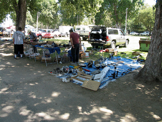 Many swap meets are held in the summer months, making events with natural shade an attraction for vendors and buyers alike.