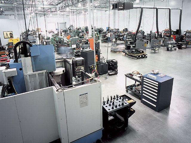 A bird's eye view into the ARP manufacturing facility. It takes specialized processes, machines, and highly trained people to build the specialized hardware required to supply the needs of racers.