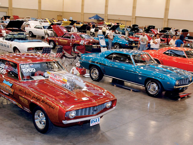 There are rare cars at a lot of shows, but in addition to six other '69 ZL1 Camaros, the '06 Forge had the first ZL1 courtesy of Bill Porterfield, the first production Yenko Camaro owned by Ron Normann, and the first COPO, sold through Norwood Chevrolet from Joe Zrostlik.