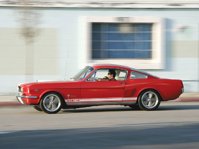The '65 fastback is being slowly transformed from street to track with the help of wheels, tires, and suspension.