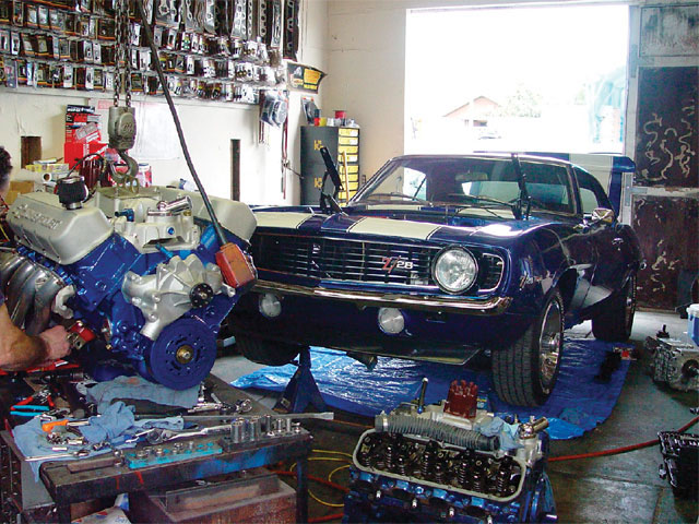 Is this Ron's garage or does he live in a speed shop?
