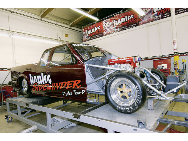 Banks plans to launch a diesel drag truck later this year, with an even higher projected rev limit of 7,000 rpm.