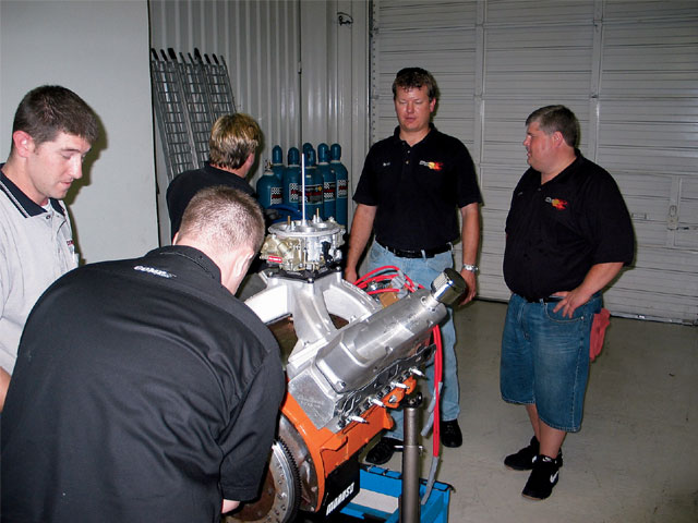 Though they were a little nervous about being the first on the dyno, the crew from HiTech impressed us by tuning their engine to more power than any of last year's Hemis.