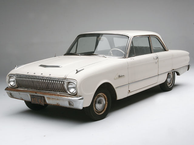 What better car to apply $23.74 worth of paint to than a $200 '62 Ford Falcon?