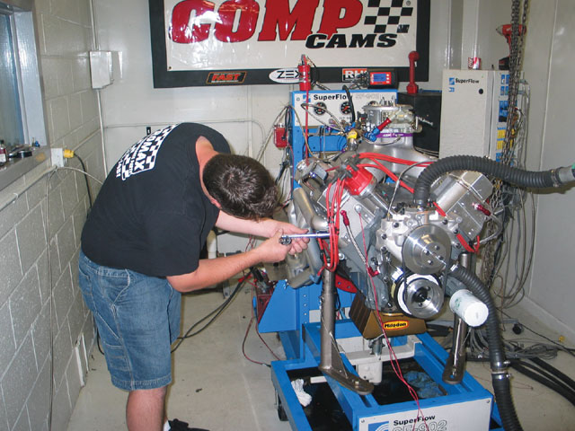 On the first attempted nitrous pull, the engine pulled strongly, but then flattened out and wouldn't accelerate. It was determined the coil on the dyno wasn't strong enough to jump the spark-plug gap in a nitrous application.