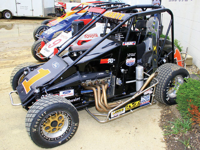 Only 4 years old, the Ford Focus Midget is USAC's wildly popular entry-level series. Photo by Larry Kellogg