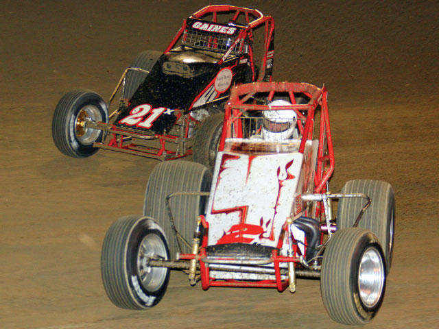 USAC is known for producing some great racing action. Photo by Larry Kellogg