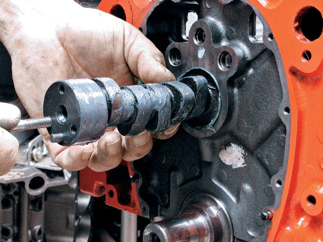 A few years ago, the cam companies stopped selling cams with molybdenum disulfide as a lobe lubricant, instead relying on a thicker assembly lube without moly. This is because that black moly paste is highly abrasive and can damage other delicate engine components. Do not substitute white paste, like Lubriplate, however, since this is not a high-pressure lubricant.