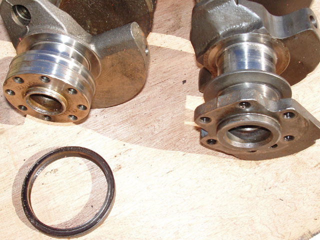 The original small-block Chevy (SBC), two-piece, rear main-seal crankshaft is on the right and a single-piece, rear main-seal crank is on the left. In the foreground is the seal itself. The blocks are also different, having provisions for the different crank seals, as well as a different lifter-bore height and cast-in roller-lifter spider mounts in the newer block. You can interchange short-blocks/heads as long as you use the correct crank, flywheel, damper, timing chain, cam, and lifters with each block, and the correct manifold for each type of heads. Confused? You're not the first.